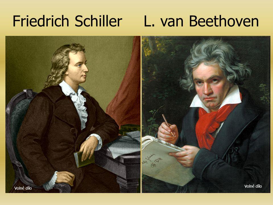 Stránka originálního Beethovenova rukopisu Beethovenova http://beethoven.staatsbibliothek-berlin.de/de/sinfonien/9/1/27.html - je původně báseň napsan