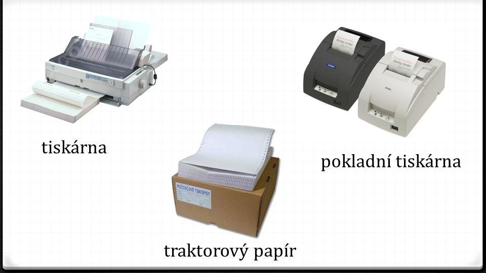 tiskárna pokladní tiskárna traktorový papír