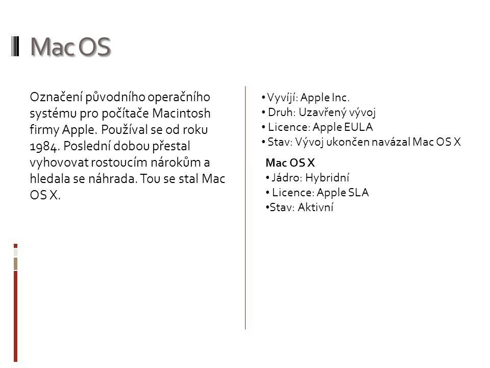 Označení původního operačního systému pro počítače Macintosh firmy Apple.