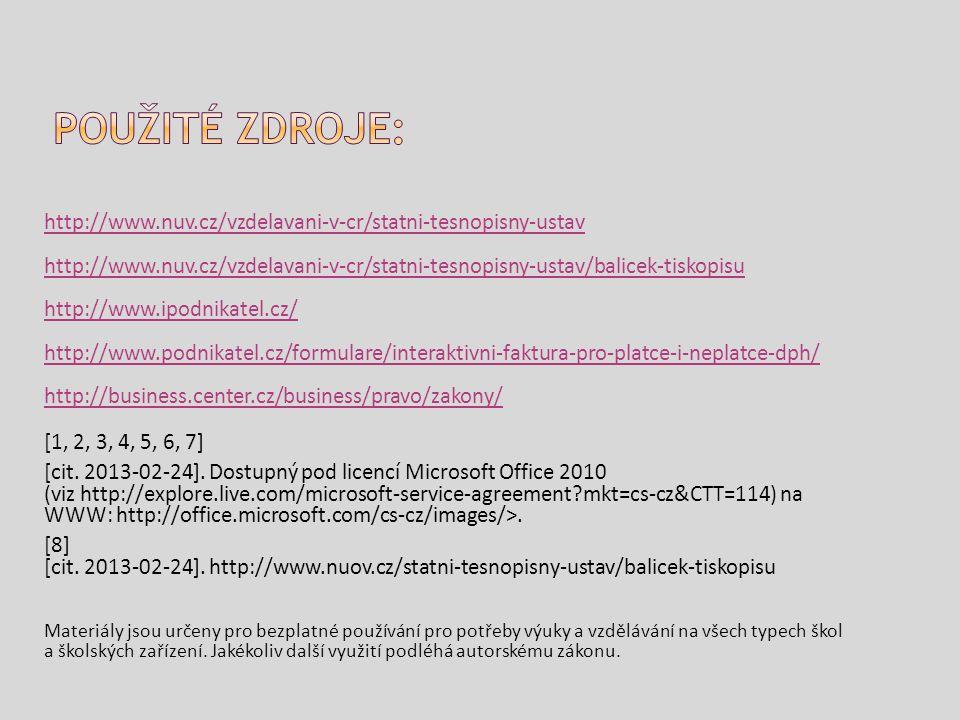 http://www.nuv.cz/vzdelavani-v-cr/statni-tesnopisny-ustav http://www.nuv.cz/vzdelavani-v-cr/statni-tesnopisny-ustav/balicek-tiskopisu http://www.ipodn