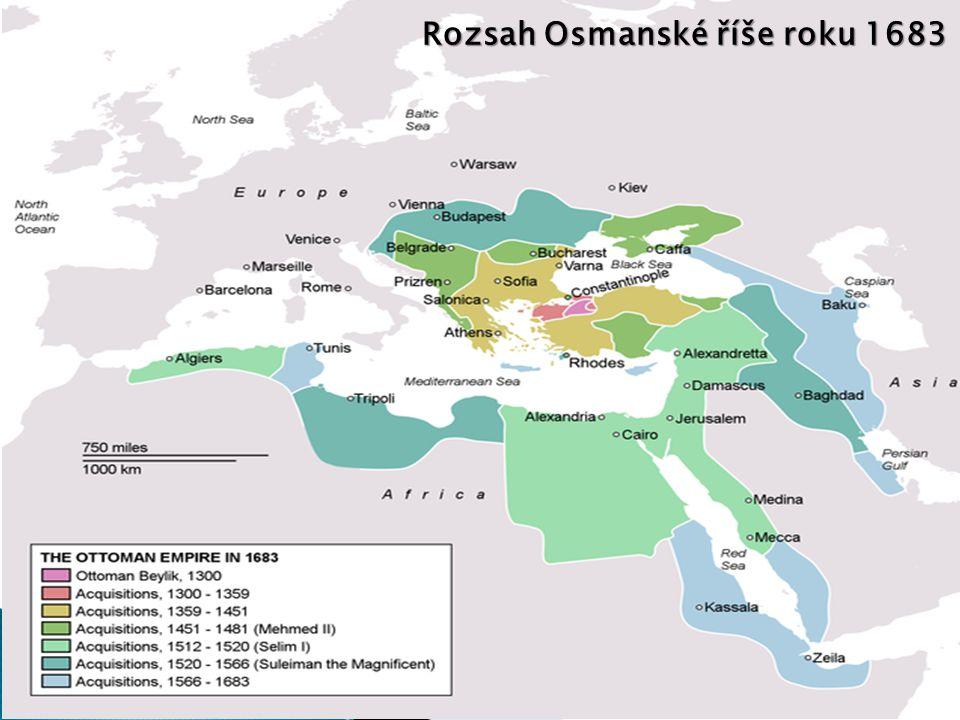 Rozsah Osmanské říše roku 1683
