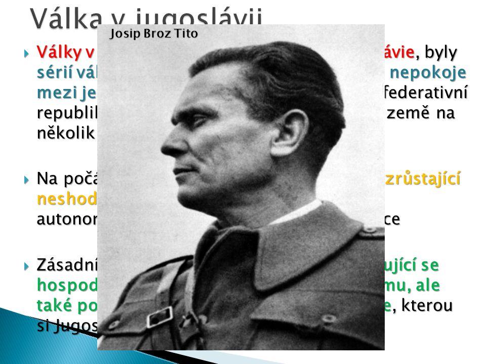  Války v Jugoslávii, jinak též Rozpad Jugoslávie, byly sérií válečných konfliktů, které začaly jako nepokoje mezi jednotlivými státy SFRJ (Socialisti