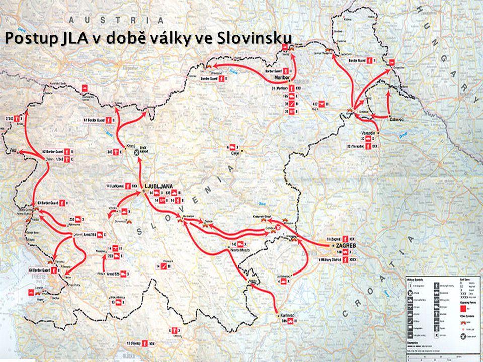 Postup JLA v době války ve Slovinsku