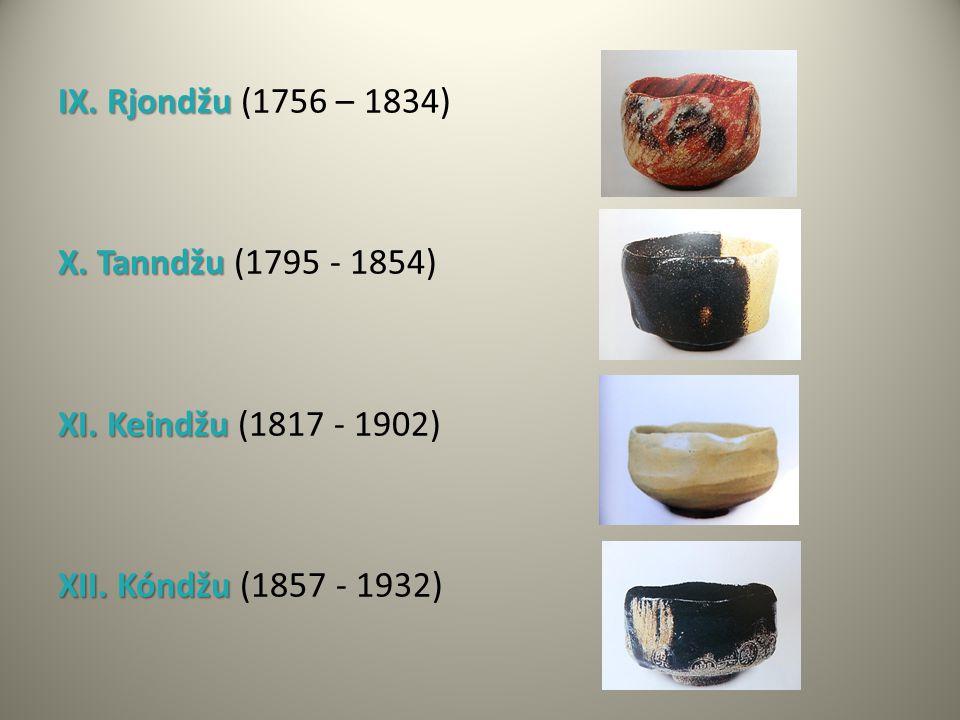IX. Rjondžu IX. Rjondžu (1756 – 1834) X. Tanndžu X. Tanndžu (1795 - 1854) XI. Keindžu XI. Keindžu (1817 - 1902) XII. Kóndžu XII. Kóndžu (1857 - 1932)