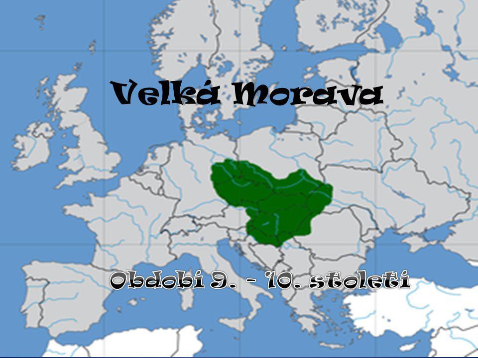 Vezm ě me to od za č átku… k prvním pokusům o sjednocení slovanských kmenů došlo na jižní Moravě a jižním Slovensku na Slovensku byla hlavním střediskem Nitra Mojmír asi v roce 833 vyhnal moravský kníže Mojmír nitranského knížete Pribinu vzniká první státní útvar na našem území centrum mezi řekami Moravou a Dyjí
