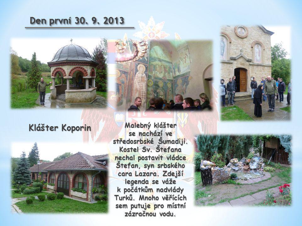 V poledne jsme dorazili do města Kragujevac.