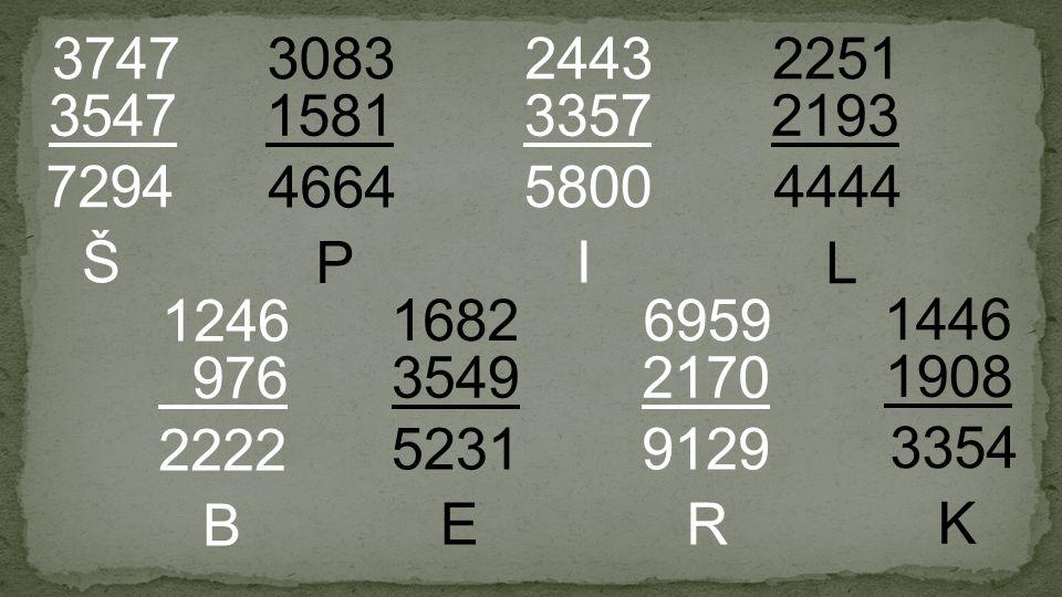 1581 3083 3547 3747 3357 2443 3549 1682 2170 6959 2193 2251 976 1246 1908 1446 7294 Š 2222 B 5800 I 9129 R 4664 P 5231 E K 3354 4444 L