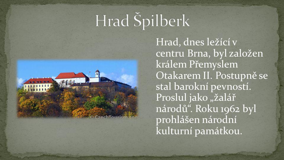 Hrad, dnes ležící v centru Brna, byl založen králem Přemyslem Otakarem II.
