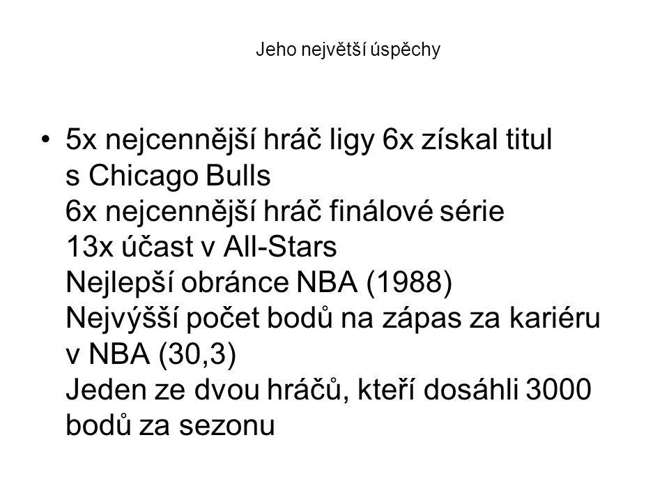 5x nejcennější hráč ligy 6x získal titul s Chicago Bulls 6x nejcennější hráč finálové série 13x účast v All-Stars Nejlepší obránce NBA (1988) Nejvýšší počet bodů na zápas za kariéru v NBA (30,3) Jeden ze dvou hráčů, kteří dosáhli 3000 bodů za sezonu Jeho největší úspěchy