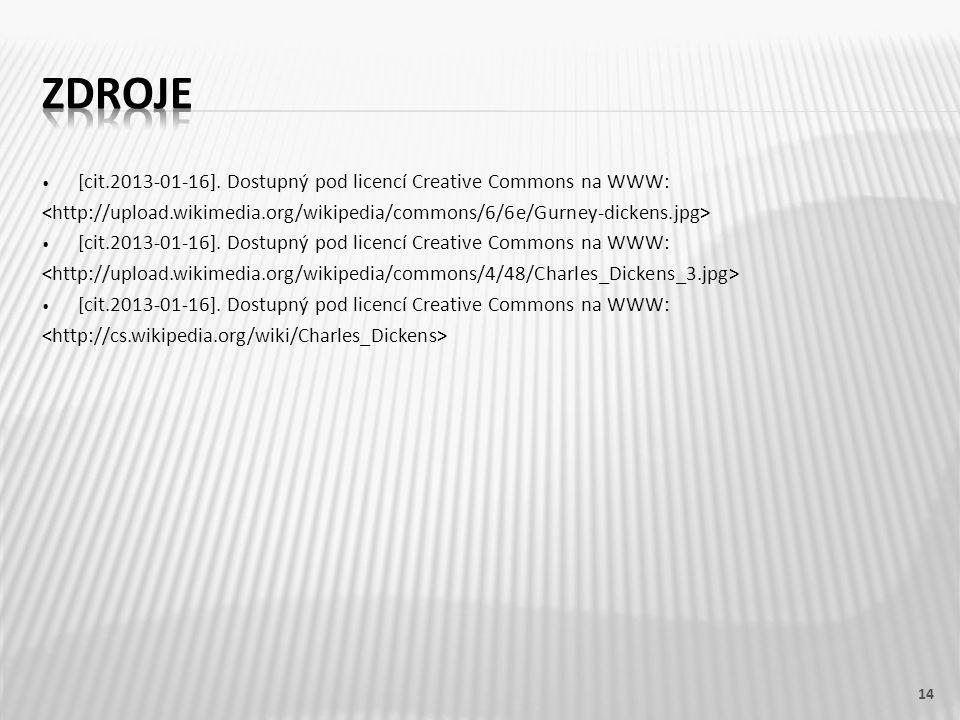 [cit.2013-01-16]. Dostupný pod licencí Creative Commons na WWW: [cit.2013-01-16].