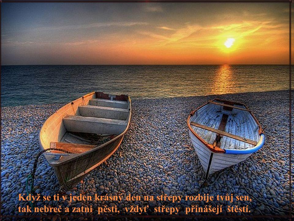Když se ti v jeden krásný den na střepy rozbije tvůj sen, tak nebreč a zatni pěsti, vždyť střepy přinášejí štěstí.