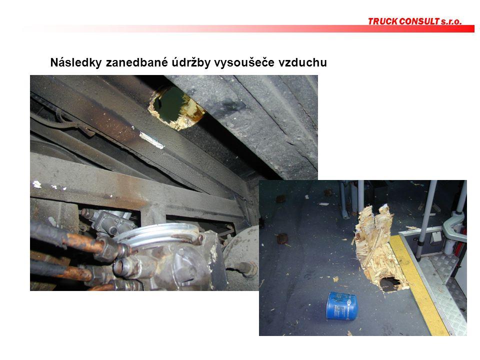 TRUCK CONSULT s.r.o. Následky zanedbané údržby vysoušeče vzduchu