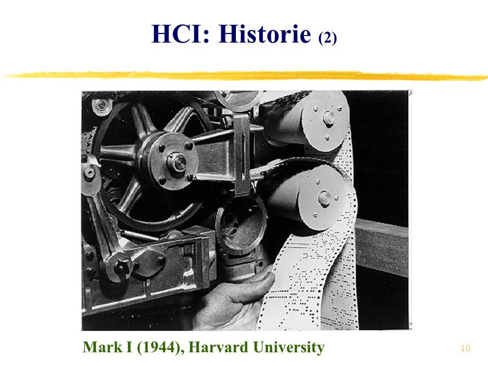 10 HCI: Historie (2) Mark I (1944), Harvard University