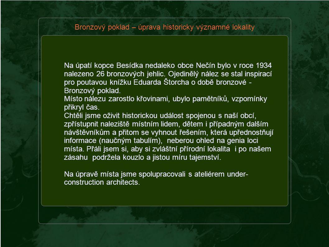Na úpatí kopce Besídka nedaleko obce Nečín bylo v roce 1934 nalezeno 26 bronzových jehlic.