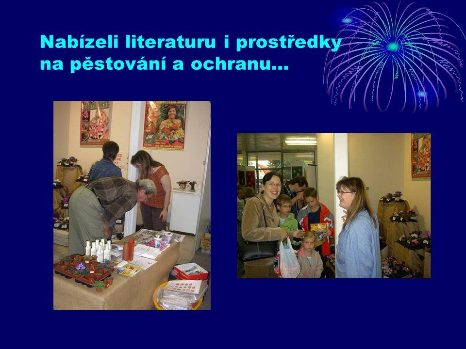Nabízeli literaturu i prostředky na pěstování a ochranu…
