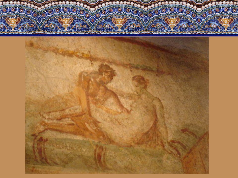 I v pokojích jsou vymalovány fresky s erotickými výjevy. Jestli znázorňují speciální služby, které se tu tehdy provozovaly, nebo jen měly rozproudit f