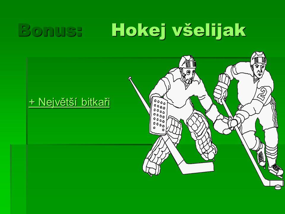 Bonus: Hokej všelijak + Největší bitkaři + Největší bitkaři