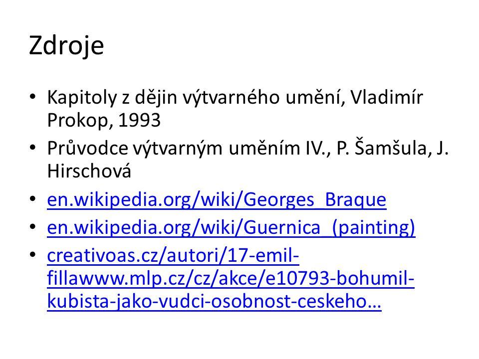 Zdroje Kapitoly z dějin výtvarného umění, Vladimír Prokop, 1993 Průvodce výtvarným uměním IV., P. Šamšula, J. Hirschová en.wikipedia.org/wiki/Georges_
