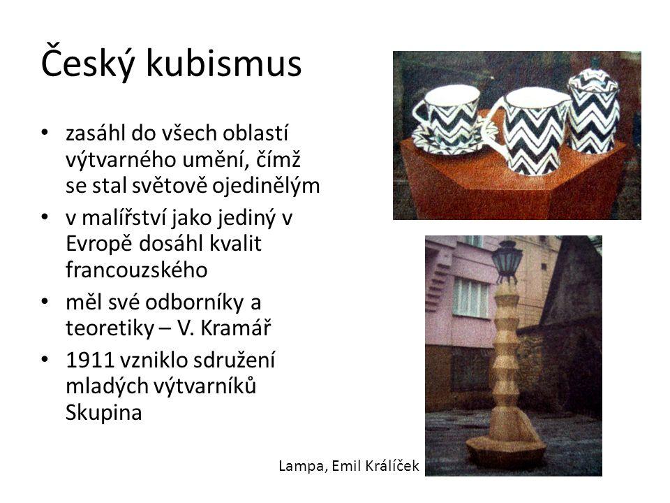 Český kubismus zasáhl do všech oblastí výtvarného umění, čímž se stal světově ojedinělým v malířství jako jediný v Evropě dosáhl kvalit francouzského