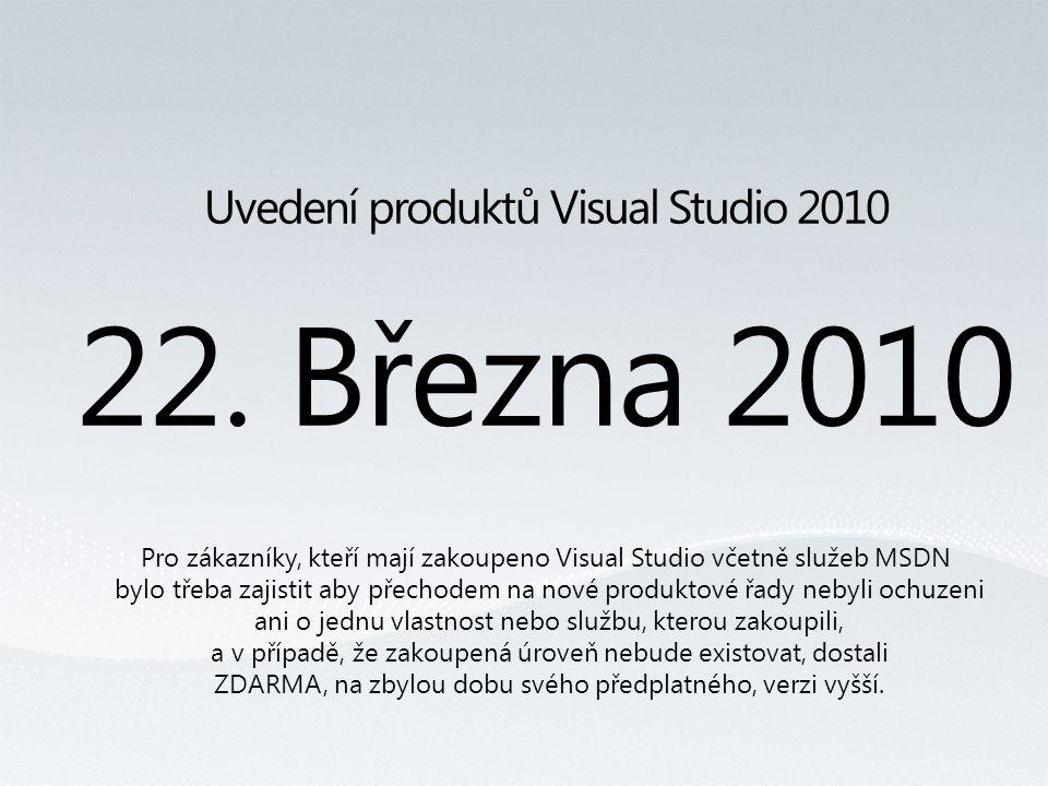 Uvedení produktů Visual Studio 2010 22.