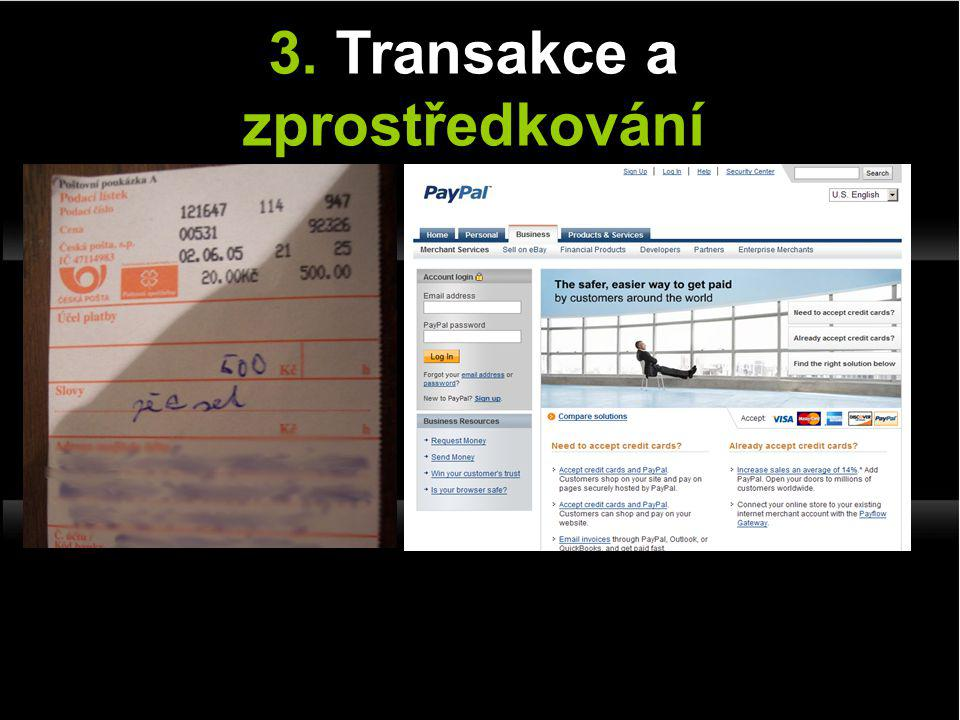 3. Transakce a zprostředkování