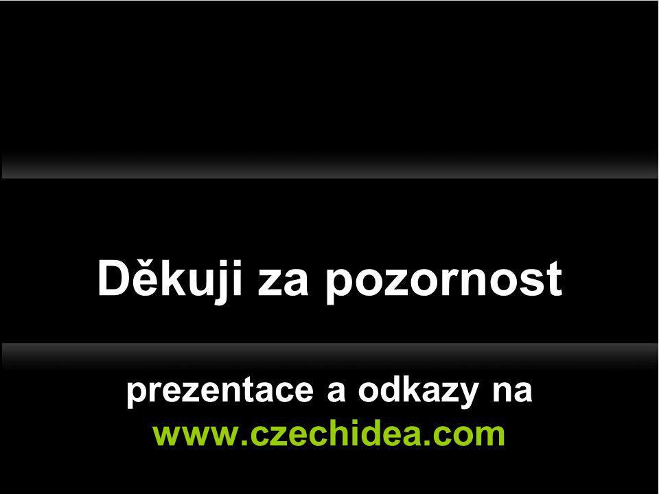 Děkuji za pozornost prezentace a odkazy na www.czechidea.com
