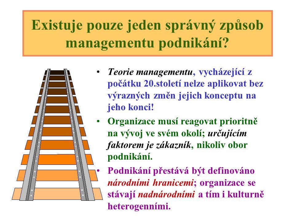 Logická souvislost mezi složkami procesu managementu: Plán : vytýčení cílů a představy o ideální cestě k nim. Organizace : uspořádání zdrojů tak, aby