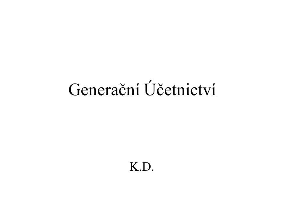 Generační Účetnictví K.D.