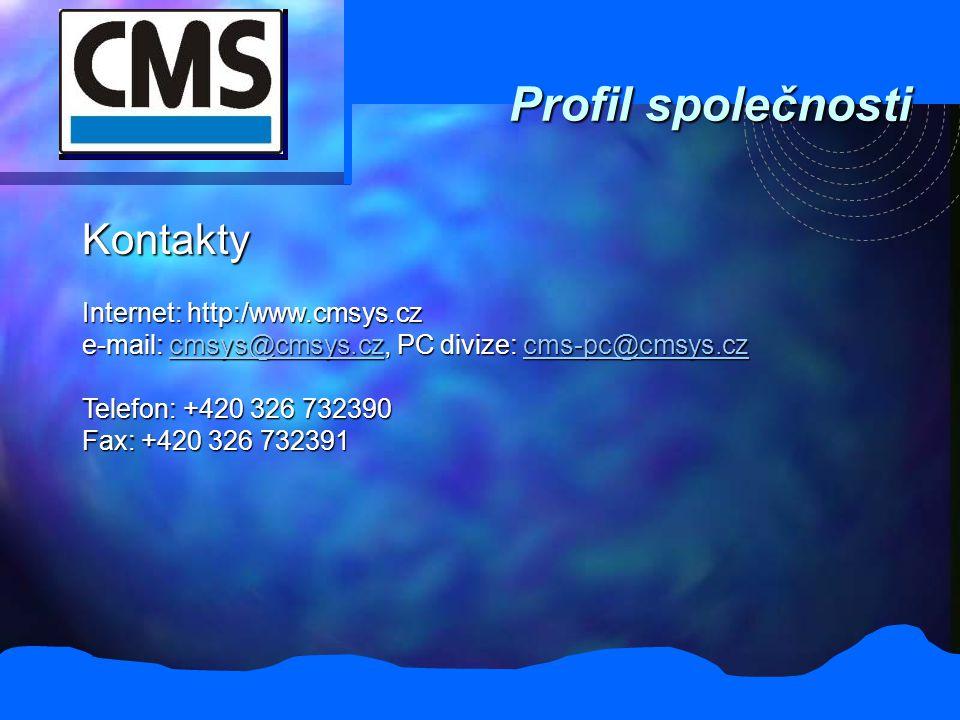 Profil společnosti Kontakty Internet: http:/www.cmsys.cz e-mail: cmsys@cmsys.cz, PC divize: cms-pc@cmsys.cz cmsys@cmsys.czcms-pc@cmsys.czcmsys@cmsys.c