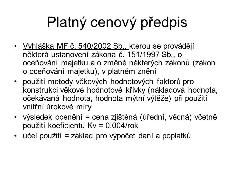 VÝNOSOVÉ OCENĚNÍ LESNÍCH POROSTŮ ČR PODLE OKRESŮ V ROCE 1999 (1) (bez započtení lesů MO ČR a výměry holin)