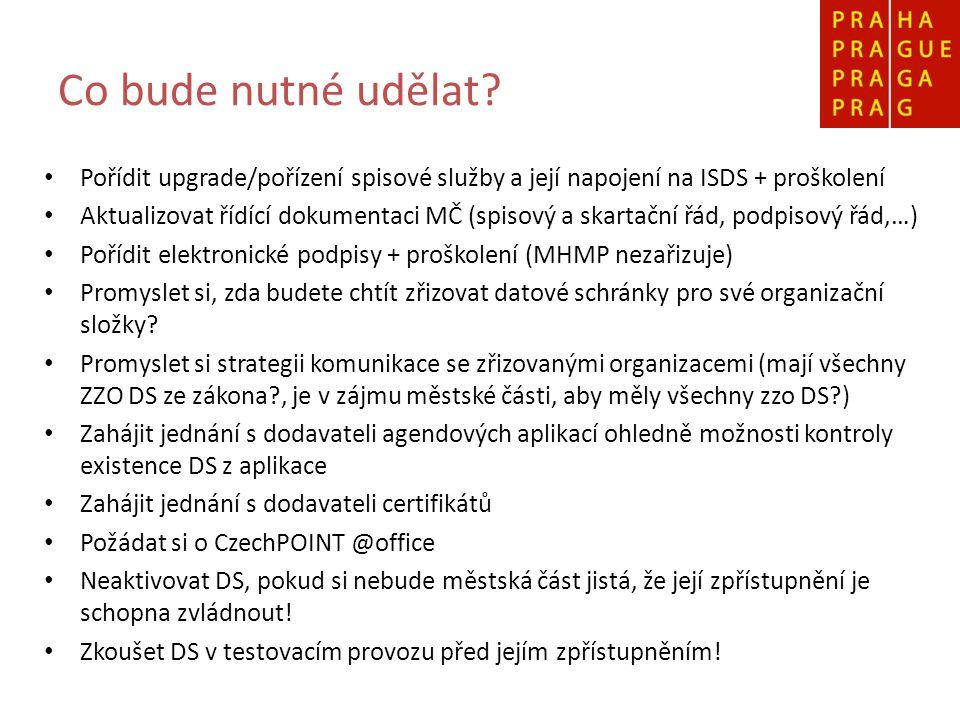 Jak bude probíhat implementace na Magistrátu.DS hl.