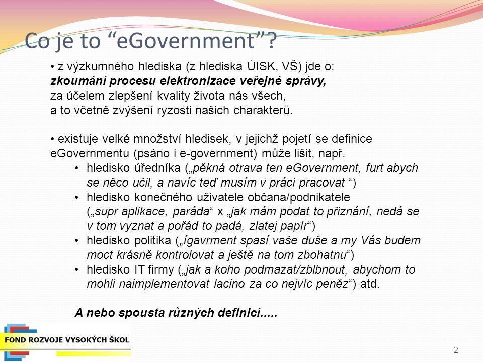 """3.2 Redukce administrativní zátěže - Výměna zkušeností členských států s implementací eGov systémů typu """"jen jedna registrace , """"po úřadech mají obíhat dokumenty, nikoliv lidé , """"jakýkoliv údaj občan hlásí VS jen jednou 3.3 Ekologické vládnutí* -Realizace velké studie o potenciálu eGovernmentu snížit uhlíkovou stopu EU -Indikátory a evaluační procesy pro měření skutečné míry redukce uhlíkové stopy vlivem zavádění služeb eGovernmentu Priorita 3 – Účinnost a efektivita vlád a veřejných správ"""