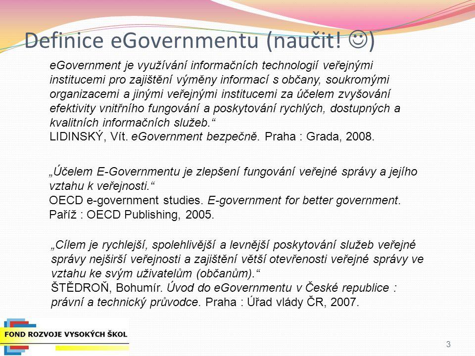 Definice eGovernmentu (naučit.