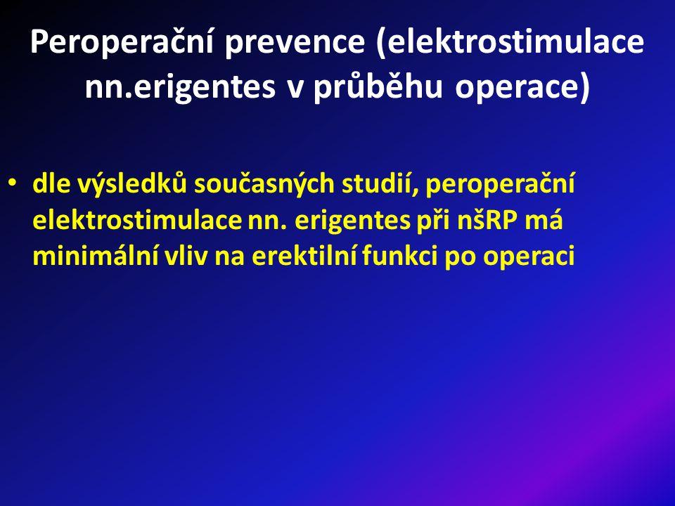 Peroperační prevence (elektrostimulace nn.erigentes v průběhu operace) dle výsledků současných studií, peroperační elektrostimulace nn.