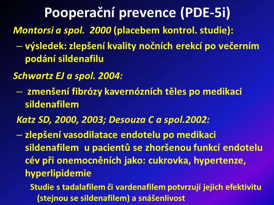 Pooperační prevence (PDE-5i) Montorsi a spol.2000 (placebem kontrol.