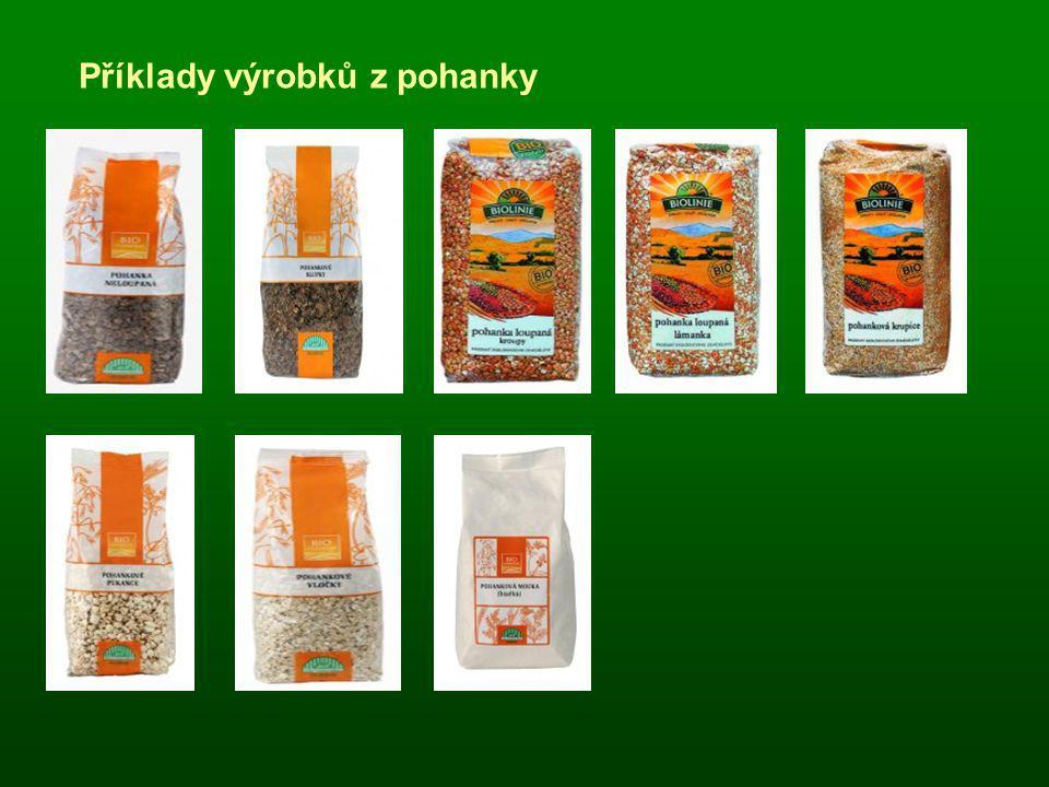 Příklady výrobků z pohanky