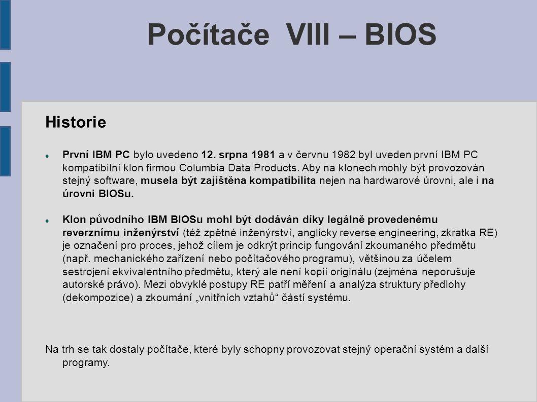 Historie První IBM PC bylo uvedeno 12.