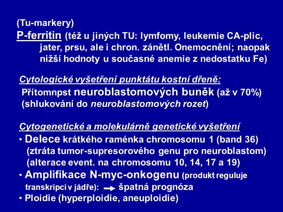 Laboratorní vyšetření Základní : úplný krevní obraz (u 50-60 % anemie), FW; Fe, ALT, AST, GMT, ALP, urea, kreatinin, moč+sediment orient. vyš. k ys. v