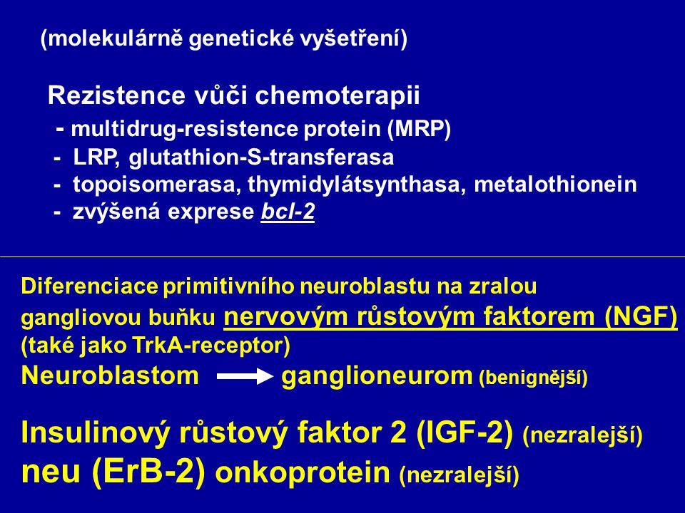 (Tu-markery) P-ferritin (též u jiných TU: lymfomy, leukemie CA-plic, jater, prsu, ale i chron. zánětl. Onemocnění; naopak nižší hodnoty u současné ane