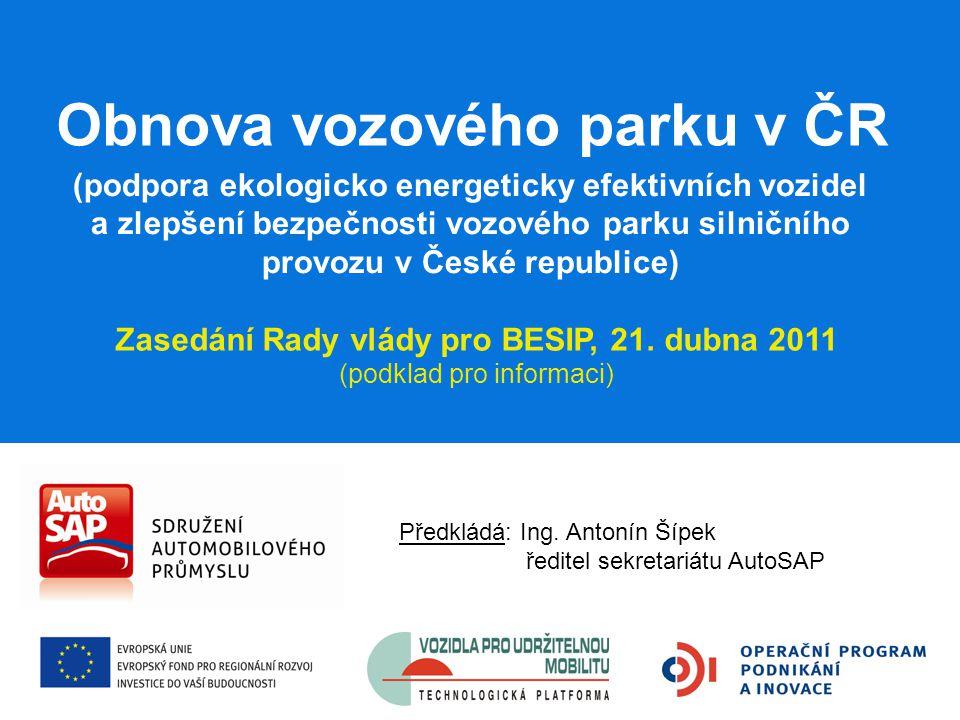 Podporuje 22 zemí EU Podpora hospodárných vozů v zemích EU Nemá: ČR Slovensko Lotyšsko Estonsko Slovinsko