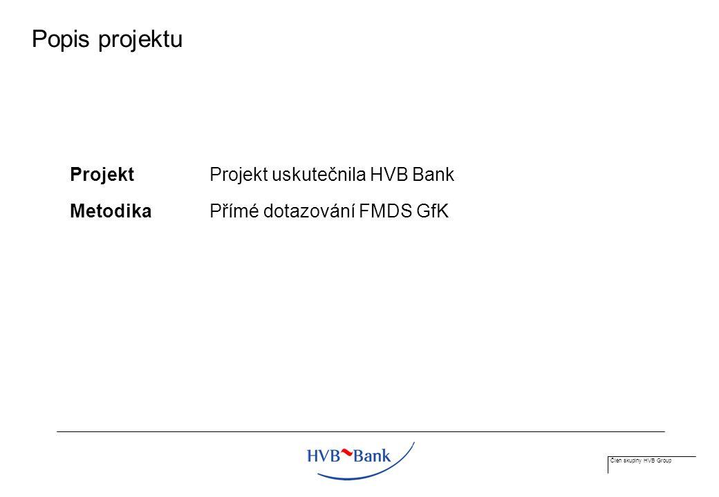 Člen skupiny HVB Group Popis projektu Projekt Projekt uskutečnila HVB Bank MetodikaPřímé dotazování FMDS GfK
