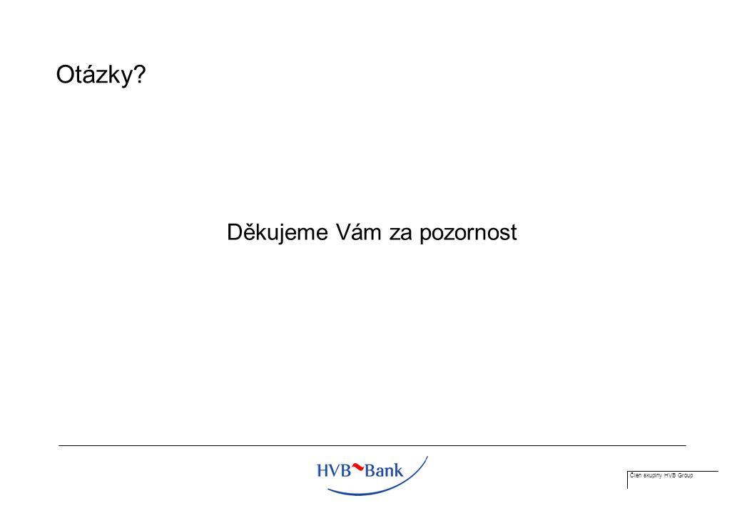 Člen skupiny HVB Group Otázky Děkujeme Vám za pozornost
