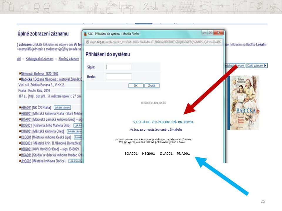 VIRTUÁLNÍ POLYTECHNICKÁ KNIHOVNA Vstup pro registrovan é uživatele Vstup pro registrovan é uživatele Virtuální polytechnická knihovna je služba pro registrované uživatele.