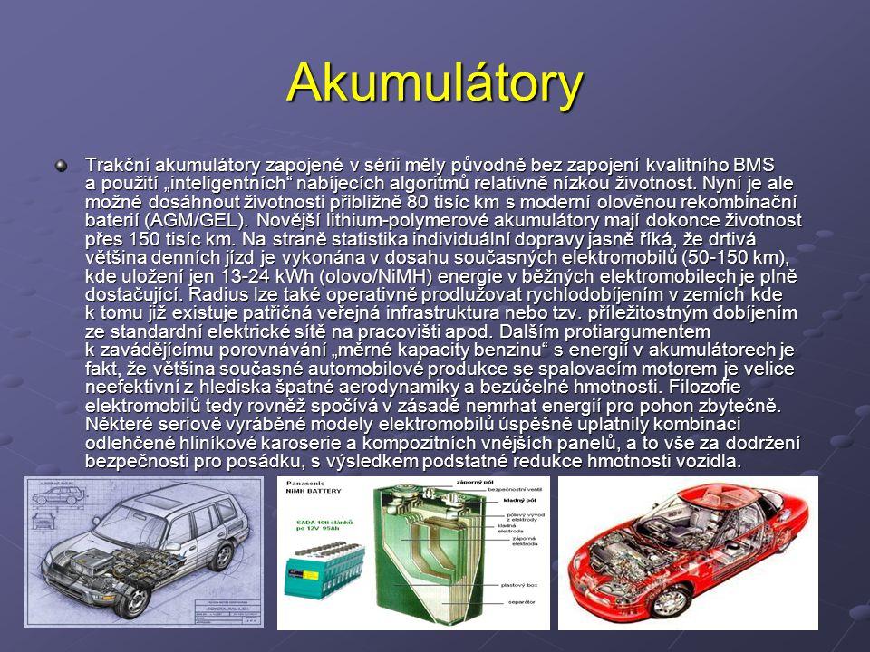 """Akumulátory Trakční akumulátory zapojené v sérii měly původně bez zapojení kvalitního BMS a použití """"inteligentních"""" nabíjecích algoritmů relativně ní"""