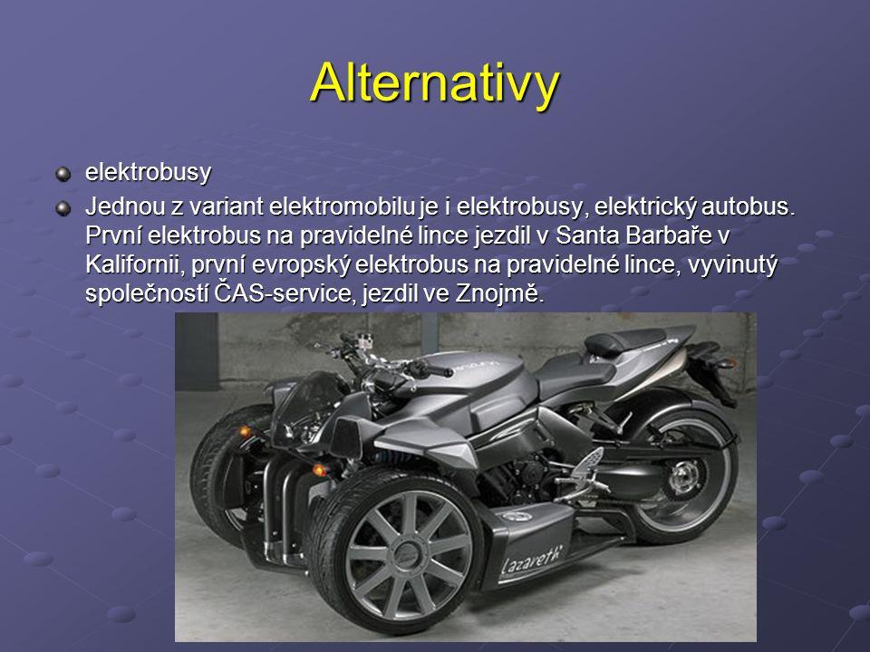 Předsudky V současné době jsou vyvíjeny také automobily s hybridním pohonem, které kombinují výhody elektromobilu (úspory rekuperací) a automobilu se spalovacím motorem (malá měrná hmotnost pohonu).