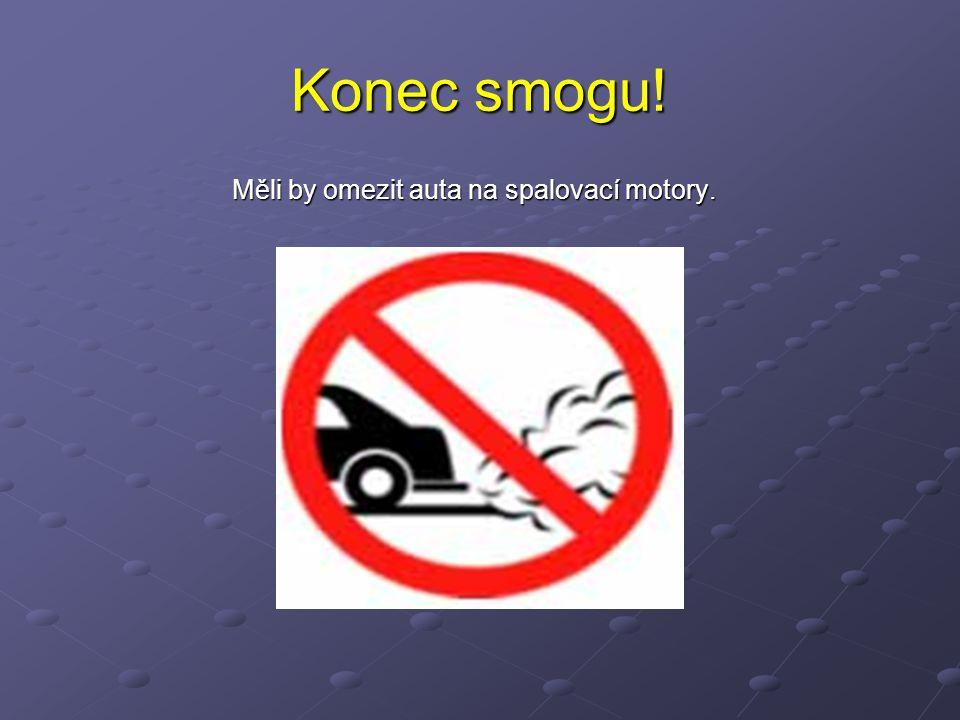 Konec smogu! Měli by omezit auta na spalovací motory. Měli by omezit auta na spalovací motory.