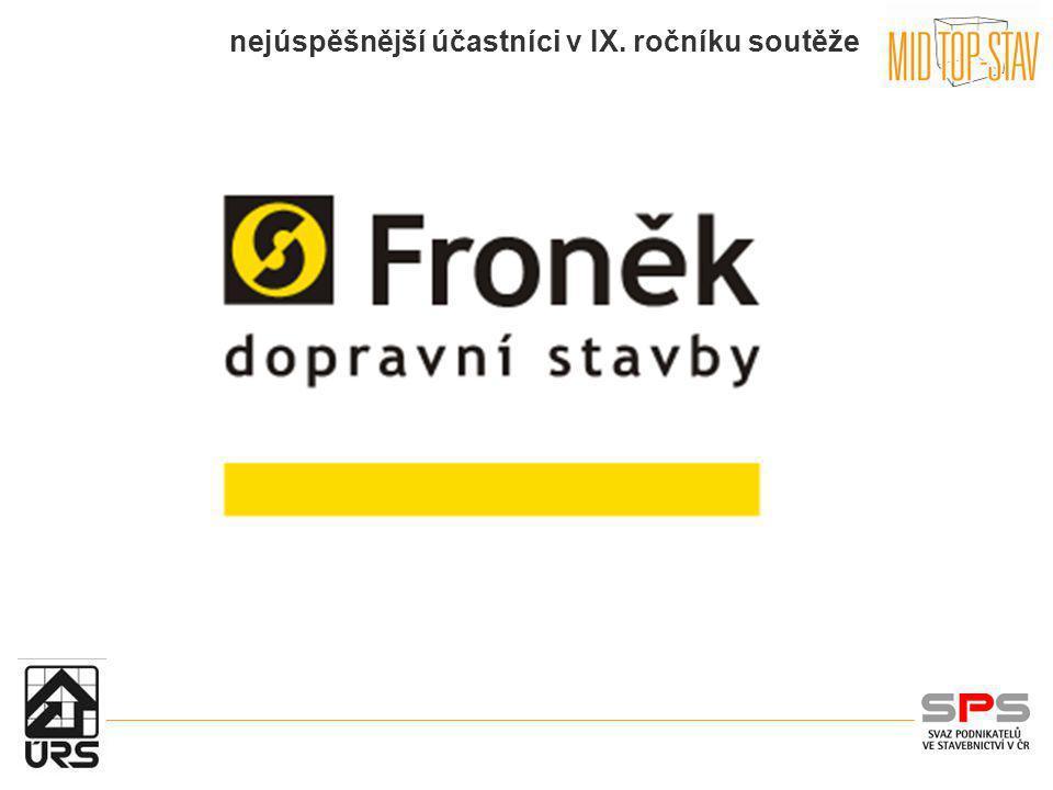 nejúspěšnější účastníci v IX.ročníku soutěže Stavební společnost TM Stav, spol.