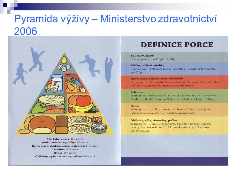 Pyramida výživy – Ministerstvo zdravotnictví 2006