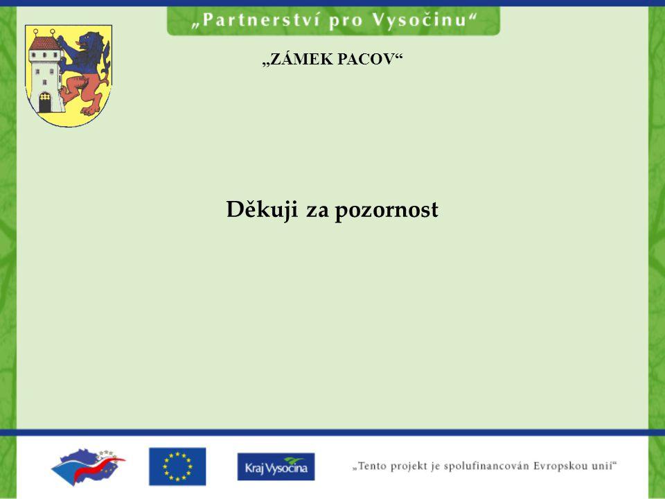 """""""ZÁMEK PACOV Děkuji za pozornost"""
