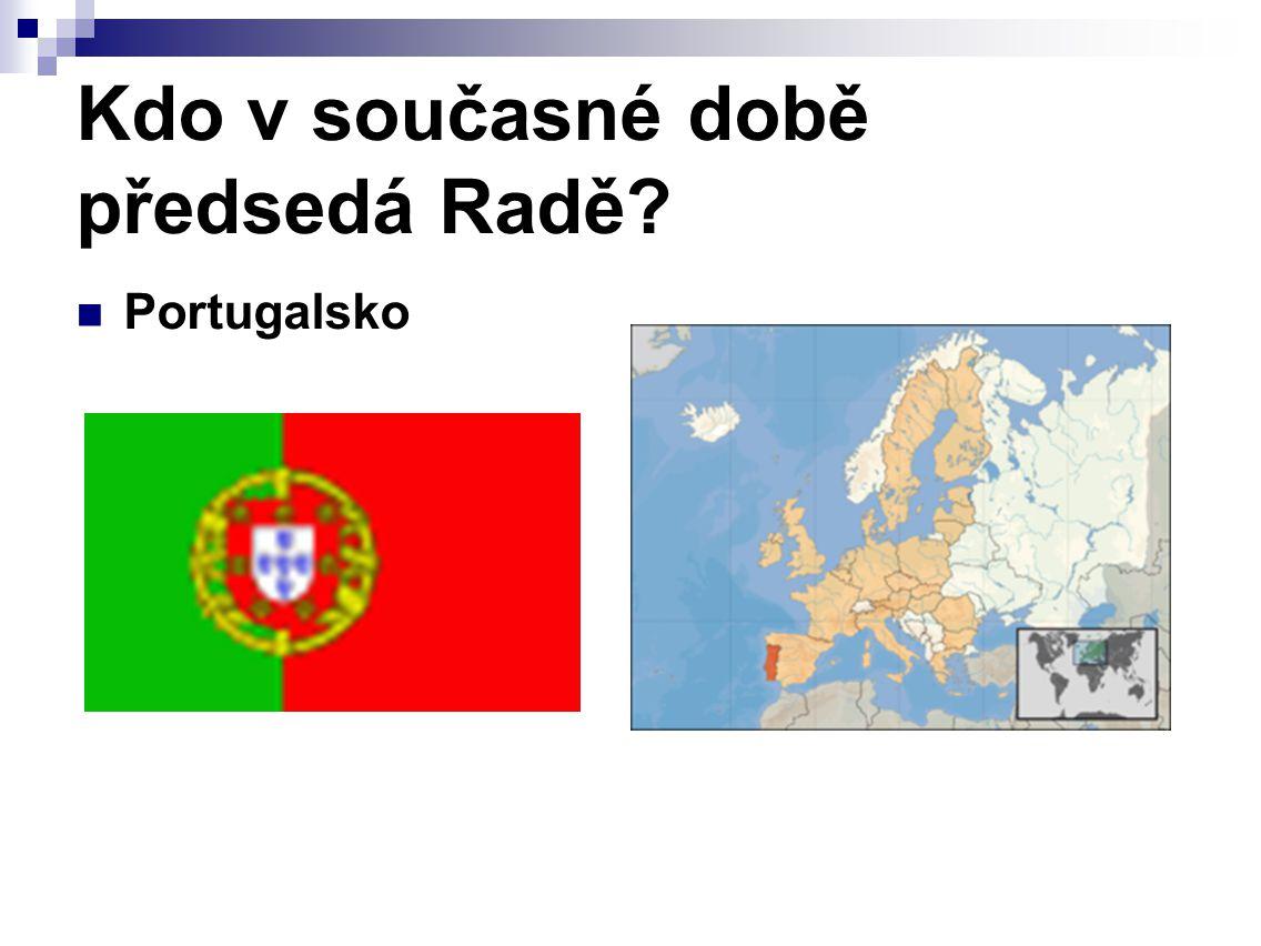 Kdo v současné době předsedá Radě Portugalsko